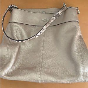 Coach leather triple compartment bag